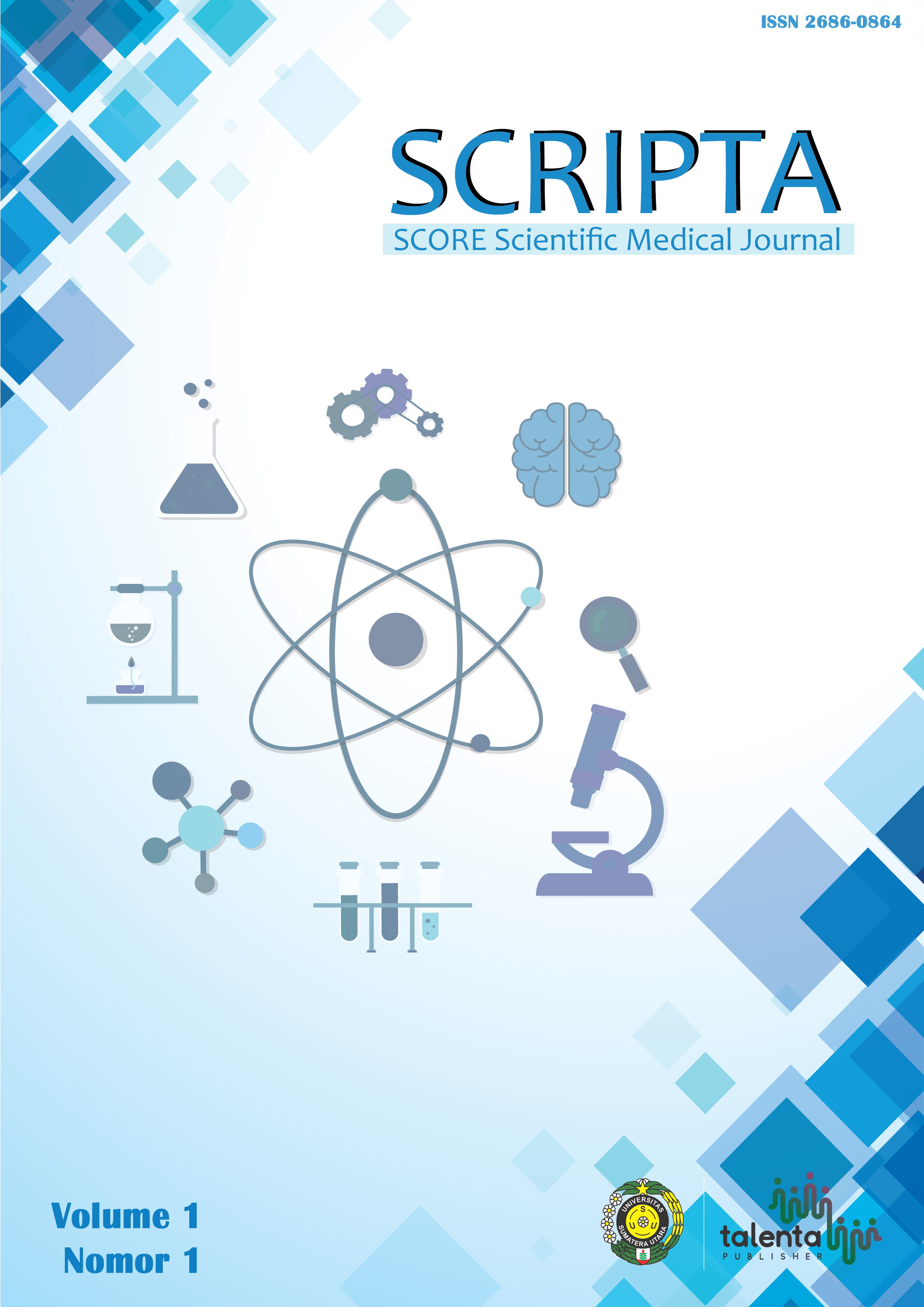 Cover of SCRIPTA SCORE Scientific Medical Journal for Volume 1 Number 1 at August 2019